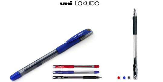 Στυλο LAKUBO UNI κόκκινο μαύρο μπλε