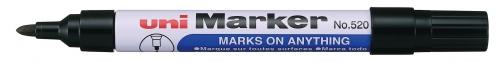 Μαρκαδόρος UNI-MARKER ανεξίτηλος μαυρος Ν.520 στρογγυλη μυτη