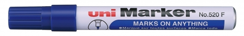 Μαρκαδόρος UNI-MARKER ανεξίτηλος μπλε Ν.520 F στρογγυλη μυτη