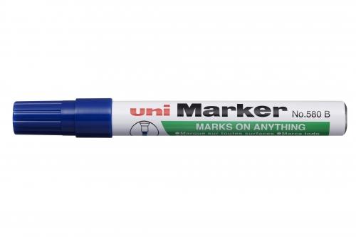 Μαρκαδόρος UNI-MARKER ανεξίτηλος μπλε Ν.580Β