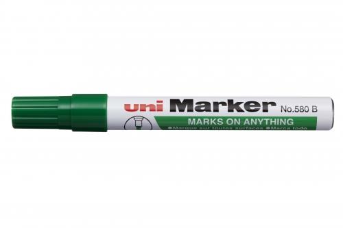 Μαρκαδόρος UNI-MARKER ανεξίτηλος πράσινος Ν.580Β
