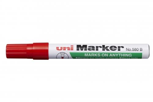 Μαρκαδόρος UNI-MARKER ανεξίτηλος κόκκινος Ν.580Β