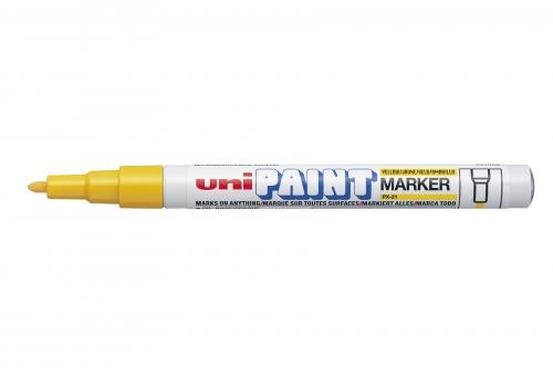 UNI PAINT μαρκαδορος κιτρινος