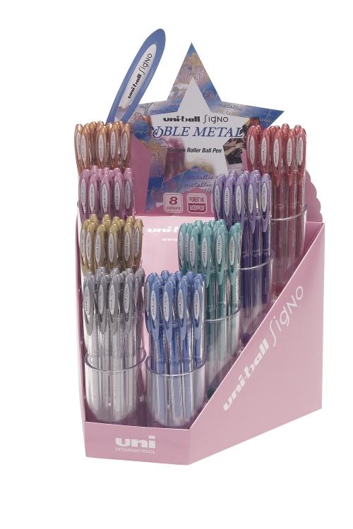 μεγαλο κουτι UNI Signo στυλο διαφορα μεταλλικα χρωματα