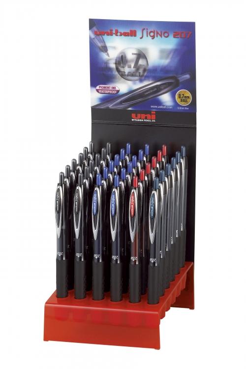 κουτι UNIBALL SIGNO στυλο κοκκινο μαυρο μπλε